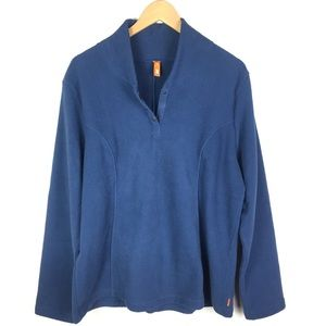 Lucy Blue Pullover Long Sleeve Fleece XL